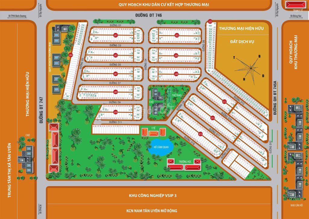 Bán Gấp đất KDC Victory city,TC100%,SHR,830tr/70m2